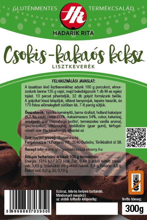 Hadarik Rita gluténmentes csokis-kakaós keksz