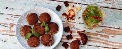 Gluténmentes, mentás csokis keksz