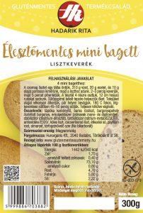 Hadarik Rita gluténmentes, élesztőmentes mini bagett lisztkeverék