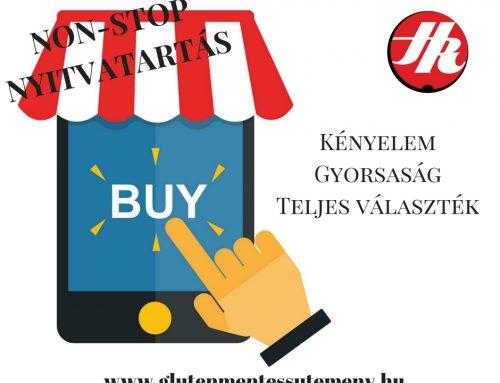 Az internetes vásárlás előnyei gluténérzékenyeknek