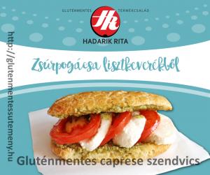 gluténmentes caprese szendvics