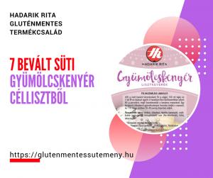 7 bevált süti Hadarik Rita gluténmentes gyümölcskenyér céllisztből