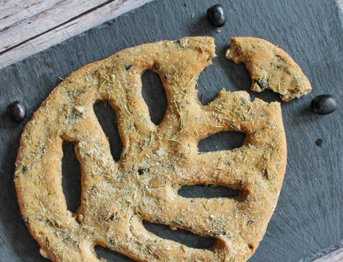 Élesztőmentes, gluténmentes fougasse (levél kenyér)