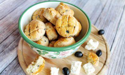 Olívás, fetás gluténmentes pogácsa