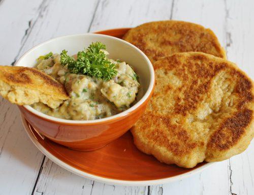 Gluténmentes serpenyős kenyér – naan